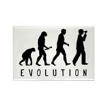 Evolution: Birder Rectangle Magnet