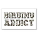Birding Addict Sticker (Rectangle)