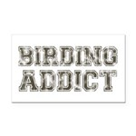 Birding Addict Rectangle Car Magnet