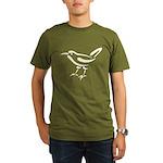 Stylized Wren Organic Men's T-Shirt (dark)