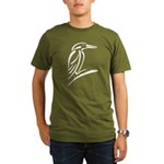 Stylized Kingfisher Organic Men's T-Shirt (dark)