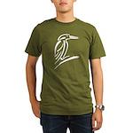 Stylized Kingfisher Organic Men's T-Shirt (dark)