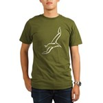 Stylized Gull Organic Men's T-Shirt (dark)