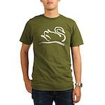 Stylized Swan Organic Men's T-Shirt (dark)