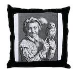 Jongen-met-uil,-Cornelis-Bloemaert Throw Pillow