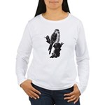 American Kestrel Sketc Women's Long Sleeve T-Shirt