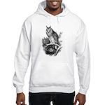 Long-eared Owl Sketch Hooded Sweatshirt
