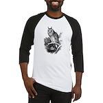Long-eared Owl Sketch Baseball Jersey
