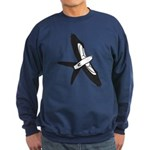 Scissor-tailed Kite Cartoon Sweatshirt (dark)
