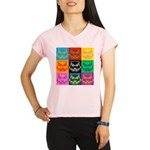 Pop Art Owl Face Performance Dry T-Shirt