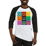 Pop Art Owl Face Baseball Jersey