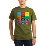 Pop Art Owl Face Organic Men's T-Shirt (dark)