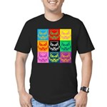 Pop Art Owl Face Men's Fitted T-Shirt (dark)
