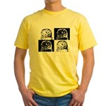 Barred Owl Pop Art Yellow T-Shirt