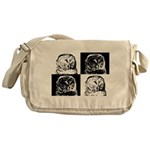 Barred Owl Pop Art Messenger Bag