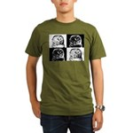 Barred Owl Pop Art Organic Men's T-Shirt (dark)