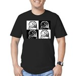 Barred Owl Pop Art Men's Fitted T-Shirt (dark)
