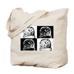Barred Owl Pop Art Tote Bag