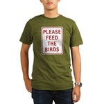 Please Feed the Birds Organic Men's T-Shirt (dark)