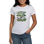 I Love My Backyard Birds Women's T-Shirt