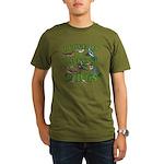 I Love My Backyard Bi Organic Men's T-Shirt (dark)