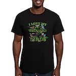 I Love My Backyard Bir Men's Fitted T-Shirt (dark)