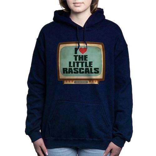 Retro I Heart The Little Rascals Woman's Hooded Sweatshirt