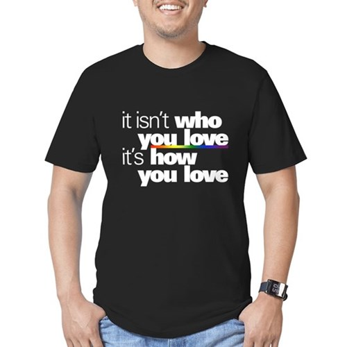 It's How You Love Men's Dark Fitted T-Shirt