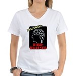 Diagnosis: Bird-Brained Women's V-Neck T-Shirt