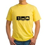 Eat Sleep Bird Yellow T-Shirt