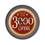 Lifelist Club - 3000 Wall Clock