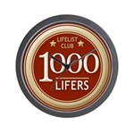 Lifelist Club - 1000 Wall Clock