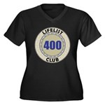 Lifelist Club - 400 Women's Plus Size V-Neck Tee