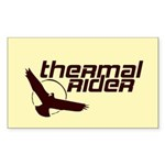 Thermal Rider Rectangle Sticker