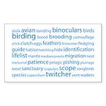 Birding Tag Cloud Rectangle Sticker