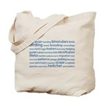 Birding Tag Cloud Tote Bag