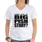 Big Pish Story Women's V-Neck T-Shirt