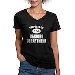 Prop of Banding Dept Women's V-Neck Dark T-Shirt