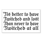 Twitched & Lost... Sticker (Rectangle)