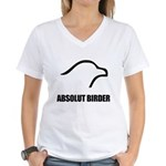 Absolut Birder Women's V-Neck T-Shirt