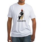 Ivory-billed: I Believe Fitted T-Shirt