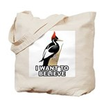 Ivory-billed: I Want to Believe Tote Bag