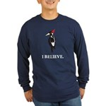 Simple IBWO: I Believe Long Sleeve Dark T-Shirt