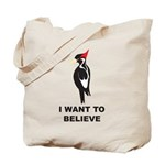 Simple Ivory-billed: I Want to Believe Tote Bag
