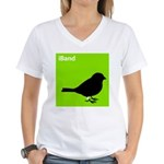 iBand (green) Women's V-Neck T-Shirt