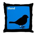 iBand (blue) Throw Pillow