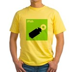 iPish (green) Yellow T-Shirt
