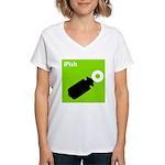 iPish (green) Women's V-Neck T-Shirt
