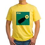 iPish (blue) Yellow T-Shirt