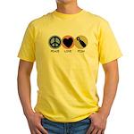 Peace Love Pish Yellow T-Shirt